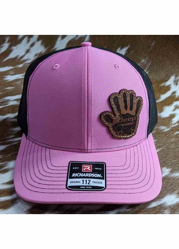 Jeep Wave Leather Patch Trucker Hat