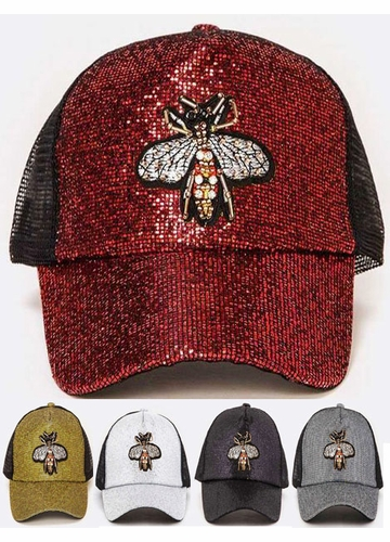 Queen Bee Jeweled Baseball Hat