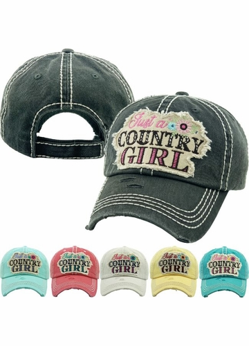 JUST A COUNTRY GIRL Vintage Baseball Hat