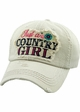 JUST A COUNTRY GIRL Vintage Baseball Hat inset 1