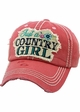 JUST A COUNTRY GIRL Vintage Baseball Hat inset 3