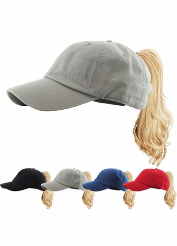 KIDS Ponytail Baseball Hat in Cotton