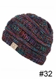 KIDS BeanieTails Multi Color Hat with Open Ponytail inset 4
