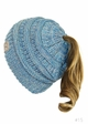 KIDS BeanieTails Multi Color Hat with Open Ponytail inset 3
