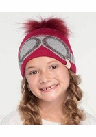 KIDS Crystal Goggles CC Beanie Hat with Pom