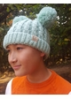 KIDS Knit Solid Color CC Beanie Hat with Two Pom Poms inset 3