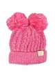 KIDS Knit Two Tone CC Beanie Hat with Two Pom Poms inset 3