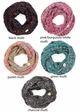 KIDS Multi Color Knit CC Infinity Scarf inset 1
