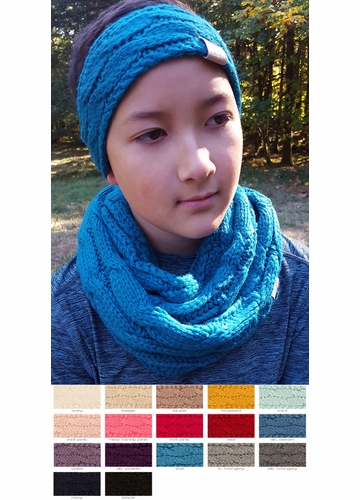 KIDS Cable Knit CC Infinity Scarf