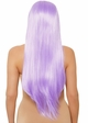 Lavender Long Straight Wig with a Center Parted inset 1