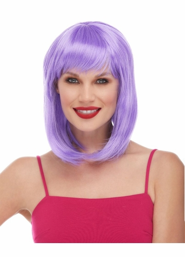 Lavender Tapered Wig Doll