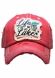 Life is Better at the Lake Washed Vintage Baseball Cap inset 1