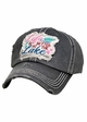 Life is Better at the Lake Washed Vintage Baseball Cap inset 2