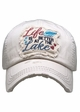 Life is Better at the Lake Washed Vintage Baseball Cap inset 3