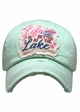Life is Better at the Lake Washed Vintage Baseball Cap inset 4