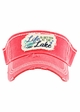 Life is Better At The Lake Washed Vintage Sun Visor inset 2
