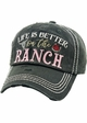 LIFE IS BETTER ON THE RANCH Vintage Baseball Hat inset 1