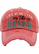 LIFE IS BETTER ON THE RANCH Vintage Baseball Hat inset 2