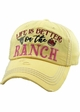 LIFE IS BETTER ON THE RANCH Vintage Baseball Hat inset 3