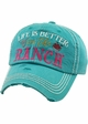 LIFE IS BETTER ON THE RANCH Vintage Baseball Hat inset 4