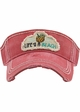 Life's a Beach Washed Vintage Sun Visor inset 3