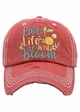 Live Life In Bloom Vintage Baseball Hat inset 2