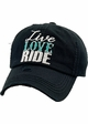 LIVE LOVE RIDE Washed Vintage Baseball Hat inset 1