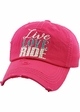 LIVE LOVE RIDE Washed Vintage Baseball Hat inset 2