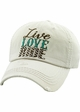 LIVE LOVE RIDE Washed Vintage Baseball Hat inset 3