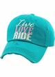 LIVE LOVE RIDE Washed Vintage Baseball Hat inset 4