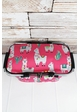 Llovely Llamas Collapsible Insulated Market Basket with Lid inset 1