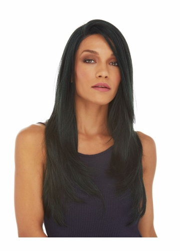 Long and Layered Swiss Lace Front Wig Aliyah