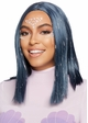 Long Bob Wig in Blue with Tinsel inset 1