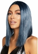 Long Bob Wig in Blue with Tinsel inset 2
