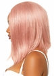 Long Bob Wig in Pink with Tinsel inset 1