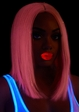 Long Bob Wig in Pink with Tinsel inset 2