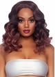 Long Curly Ombre Bob Wig in Mauve inset 2