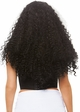 Long Curly Wig in Black with White Streaks inset 1