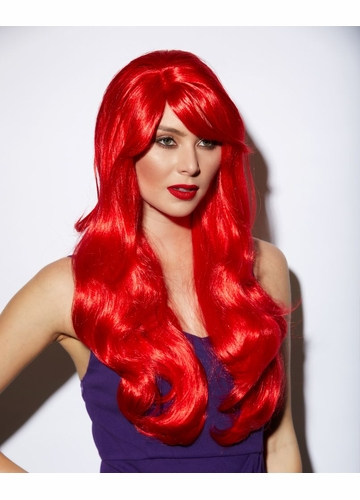 Long Layered Carmen Red Wig with Bangs