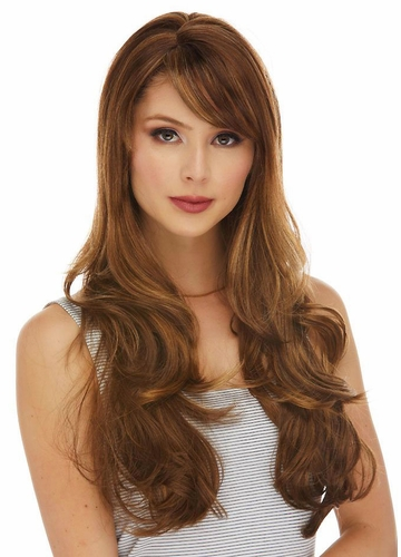Long Layered Sultry Wig with Bangs Carmen