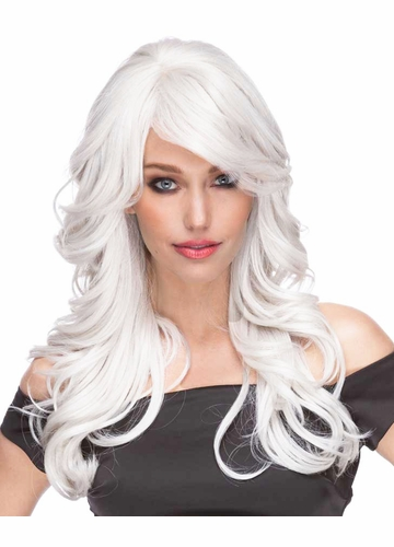 Long Loose Wave Wig Phoenix in Snow White