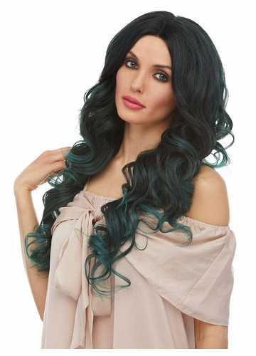 Long Mermaid Curls Lace Front Wig Saga