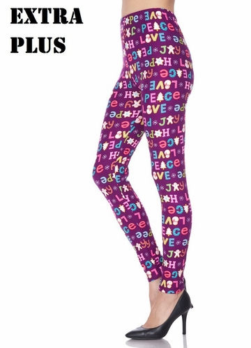 Love and Peace Holiday Cookie Peach Skin Leggings