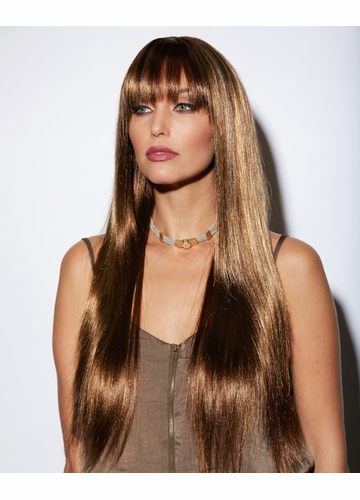 Luxe and Sleek Jewel Wig in Toasted Almond