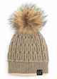 Luxe Angora and Fur Pom CC Beanie Hat inset 2