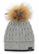 Luxe Angora and Fur Pom CC Beanie Hat inset 3