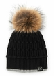Luxe Angora and Fur Pom CC Beanie Hat inset 4