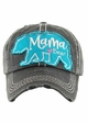 Mama Bear Heart Baseball Hat inset 1