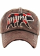Limited Edition Mama Bear Plaid Holiday Baseball Hat inset 4