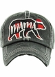Limited Edition Mama Bear Plaid Holiday Baseball Hat inset 1